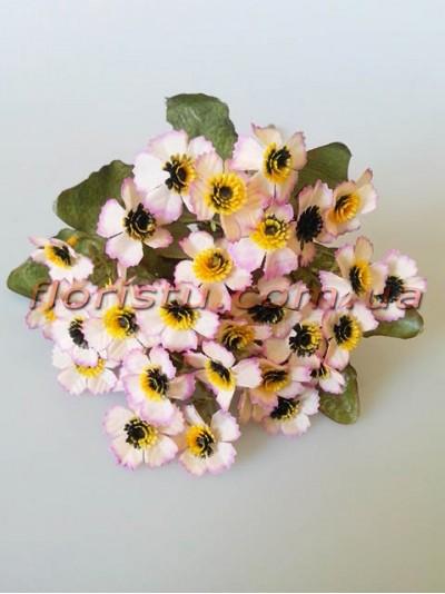 Ромашки Этно нежно-розовые гол. 2,5 см
