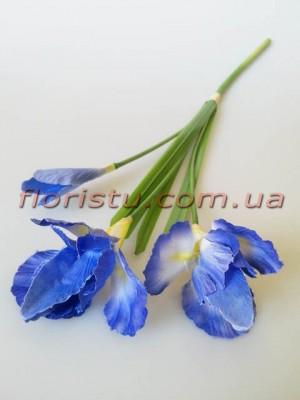 Ирисы искусственные синие 60 см