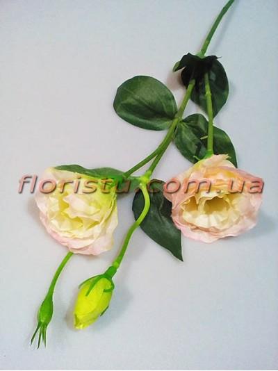 Эустома искусственная нежно-розовая 67 см