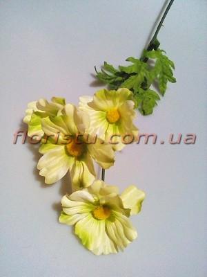 Космея искусственная нежно-салатовая 60 см 4 гол. 7 см