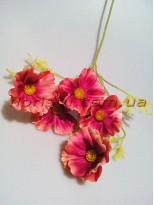 Космея Винтаж искусственная пепельно-розовая 60 см 5  гол. 7 см