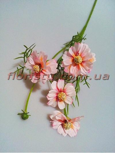 Ромашка полевая искусственная Нежно-розовая 50 см