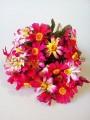 Пышный букет искусственных хризантем Розово-малиновых 42 см 14 ножек