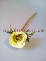 Анемона искусственная премиум класса Нежно-салатовая 36 см гол. 6 см
