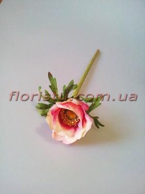 Анемона искусственная премиум класса Розовая 36 см гол. 6 см