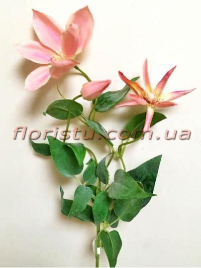 Клематис искусственный премиум класса Нежно-розовый 70 см гол.12 см