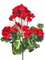 Куст герани искусственной премиум Красный 45 см