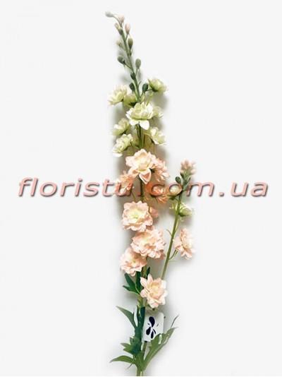 Дельфиниум искусственный с веточкой Нежно-розовый 90 см