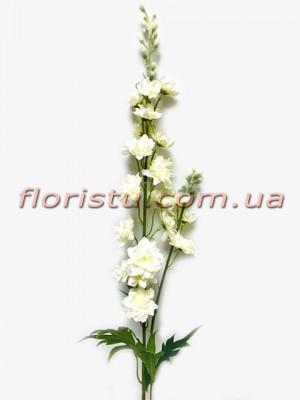 Дельфиниум искусственный с веточкой Белый 90 см