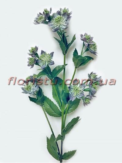 Хризантема искусственная Винтаж дымчатая 80 см