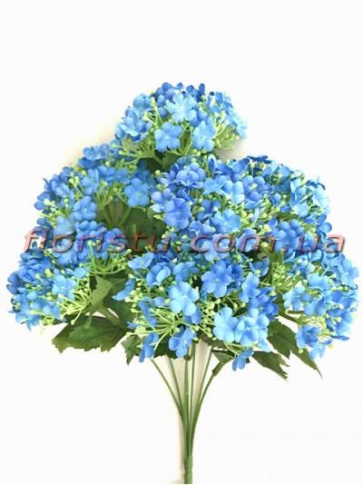 Бульдонеж искусственный пышный Голубой 43 см