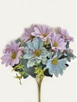 Хризантемы Винтаж пепельно-сиреневые гол. 5 см