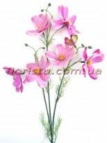 Космея искусственная премиум класса Сиренево-розовая 55 см