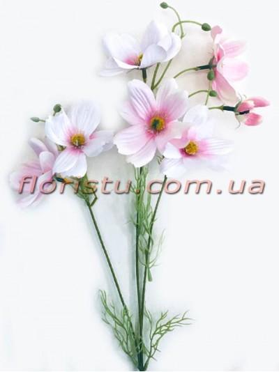 Космея искусственная премиум класса Нежно-розовая 55 см