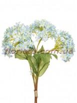 Букет бульдонежа искусственного Нежно-голубой 35 см