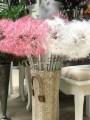 Данделион искусственный премиум класса Розовый гол. 20 см 90 см