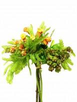 Букет премиум класса Гледичия Оранжево-оливковый 35 см