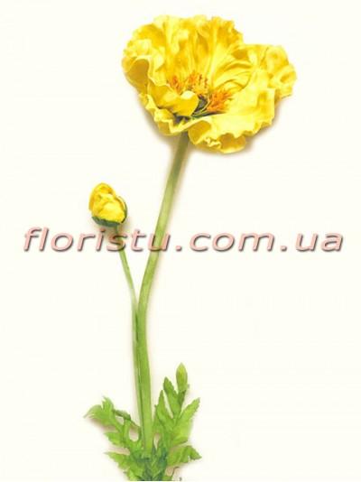 Мак латексный премиум класса Желтый 90 см