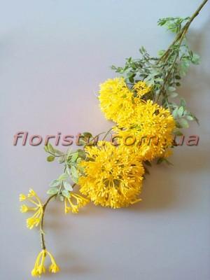 Эхинопс полевой искусственный Желтый ветка 88 см