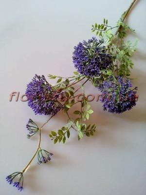 Эхинопс полевой искусственный Фиолетовый ветка 88 см