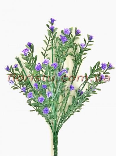 Гипсофила дымчатая фиолетовая 7 веток 25 см