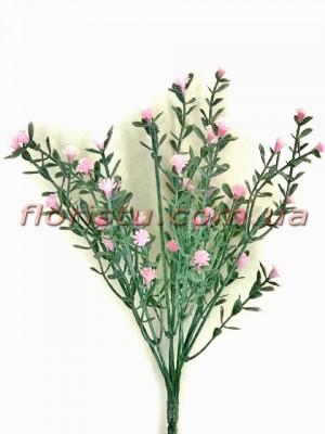 Гипсофила дымчатая розовая 7 веток 25 см