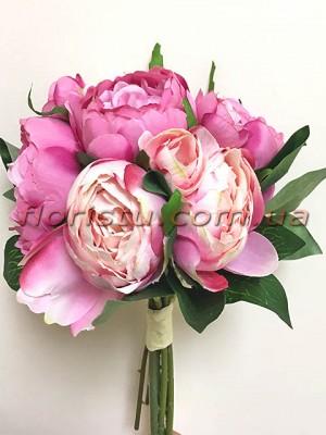 Букет-дублер из пионов Малиново-розовый 30 см гол. 7-9 см