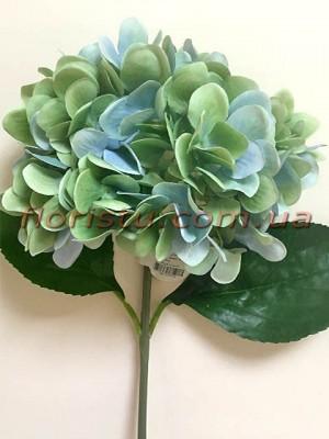 Гортензия искуственная премиум Винтаж мятно-голубая гол. 16 см 55 см