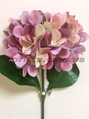 Гортензия искуственная премиум Винтаж сиренево-розовая гол. 16 см 55 см