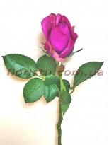 Роза искусственная мини Фиолетовая 32 см гол. 5 см