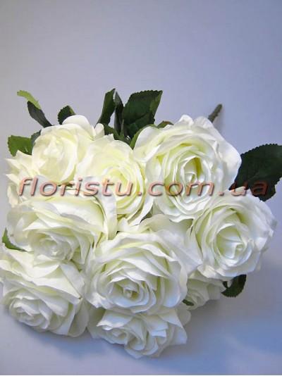 Букет роз Премиум белых 10 гол. 9 см