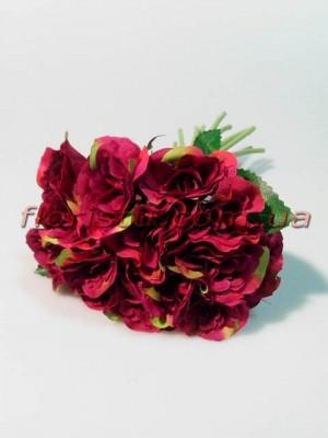 Букет роз Прованс пурпурно-малиновых 15 гол. 4-5 см