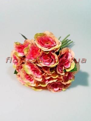 Букет роз Прованс розово-персиковых 15 гол. 4-5 см