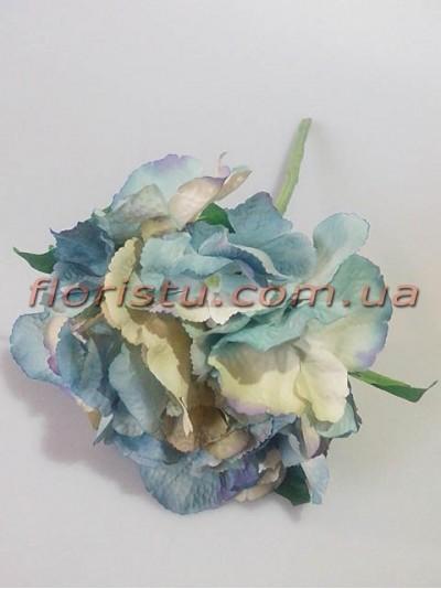 Гортензия Винтаж бежево-голубая гол.17 см 36 см