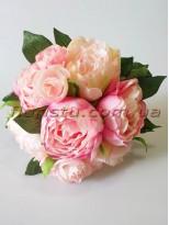 Букет-дублер из пионов нежно-розовых 30 см гол. 7-9 см