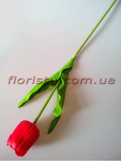 Тюльпан из латекса премиум класса Красный 65 см