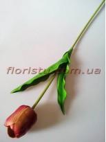 Тюльпан из латекса премиум класса Бордо 65 см