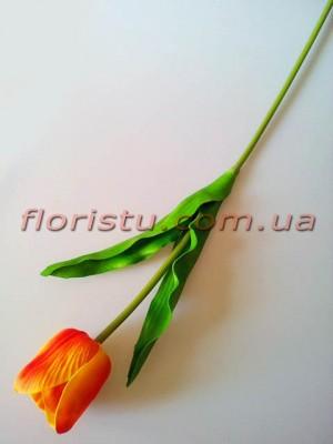 Тюльпан из латекса премиум класса Оранжевый 65 см