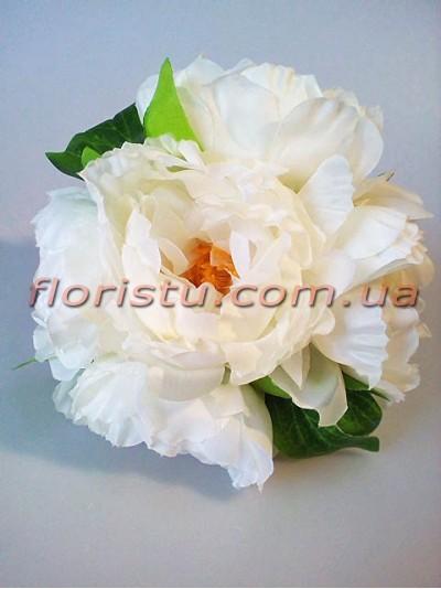 Букет-дублер свадебный из пионов Белый 20 см