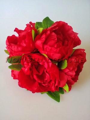 Букет-дублер свадебный из пионов Красный 20 см