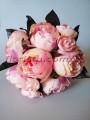 Букет-дублер из пионов винтажно-розовых 30 см гол. 7-9 см