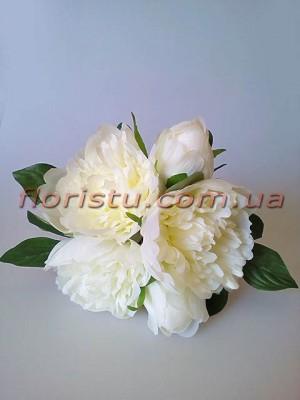 Букет-дублер из пионов Свадебный белый 25 см гол. 10 см