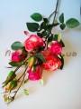 Розы Эден розово-коралловые искусственная ветка 1 м