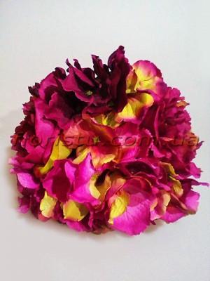 Букет-дублер Пионы и гортензия премиум класса фиолетово-малиновый 30 см