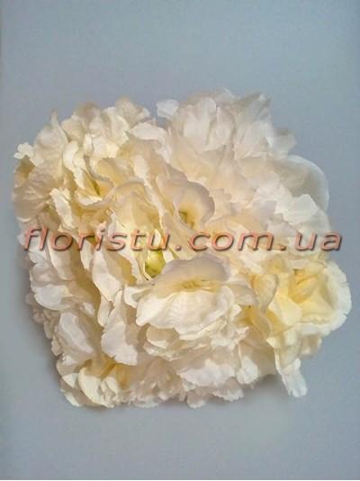 Букет-дублер Пионы и гортензия премиум класса нежно-кремовый 30 см