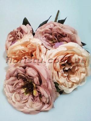 Букет из чайных роз премиум класса Шик кофейный 5 гол. 15 см