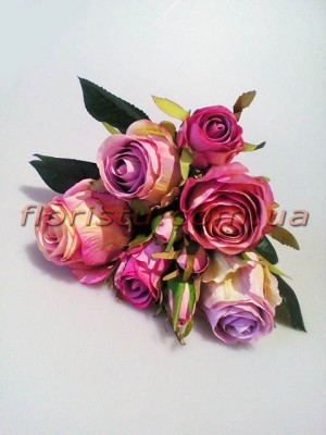 Букет-дублер премиум из роз Эден сиреневый 30 см