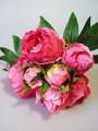 Букет-дублер из пионов премиум Шарм винно-розовый 30 см