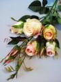 Розы Эден кремово-розовые искусственная ветка 1 м