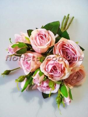 Букет роз гэлакси премиум класса Пудровый 46 см